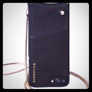BANDOLIER black pebble w/gold - iPhone 7 case